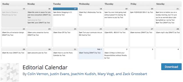 Qué es un calendario editorial WordPress