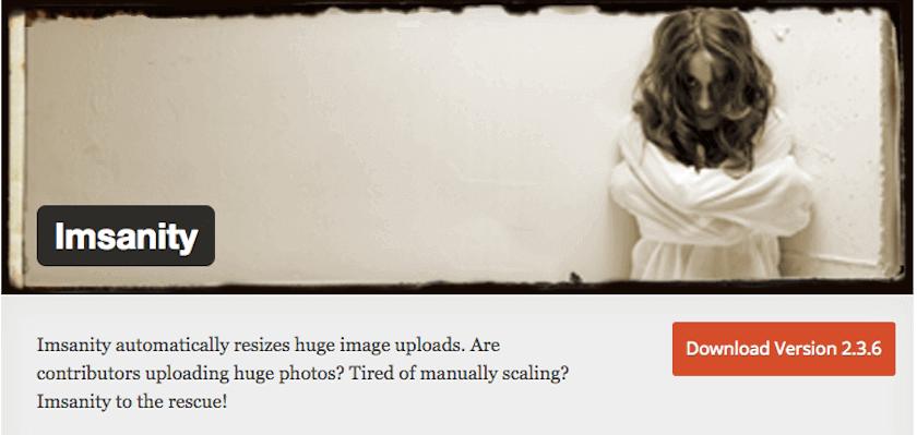 Imsanity, plugin para redimensionar imágenes en WordPress