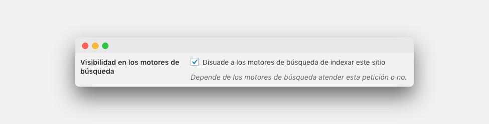 pantallazo ajustes lectura nuevo WordPress