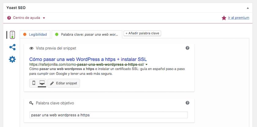 Yoast SEO WordPress - Titulo SEO y meta content del contenido