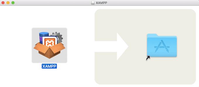 Imagen Arrastrar Xampp a aplicaciones Mac