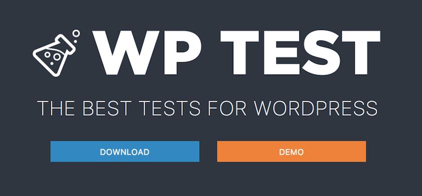 Logo Wp Test donde puedes importar contenido de prueba para WordPress