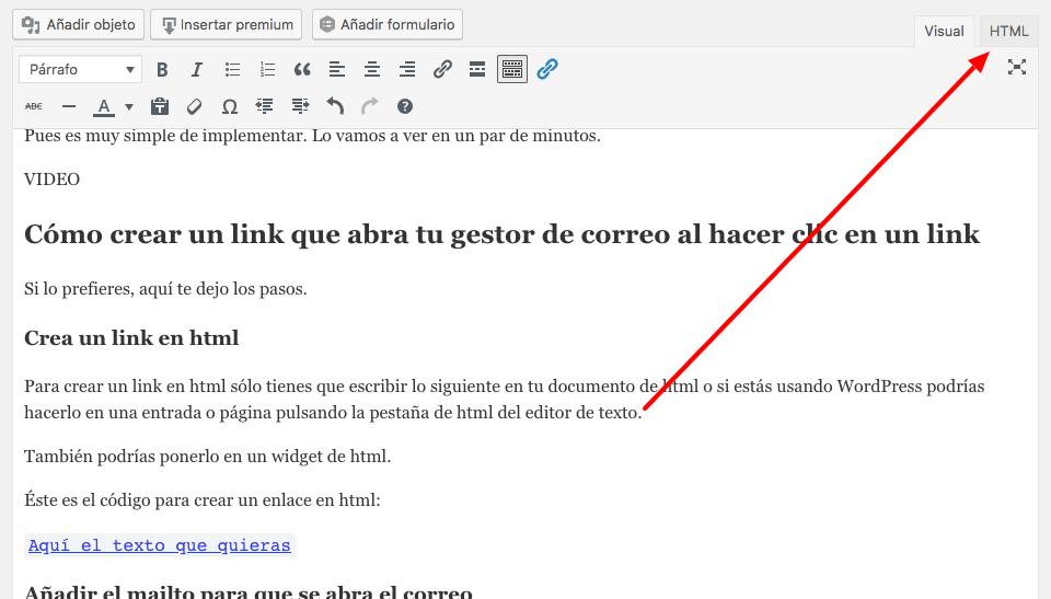 crear link que abra el correo
