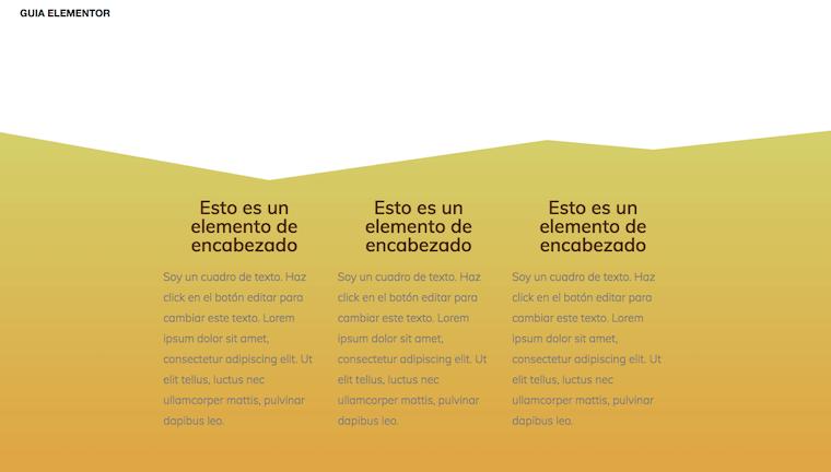 Pantallazo Divisor Piramides Elementor
