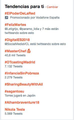 ejemplos de hashtag