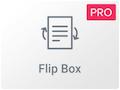 Icono del Widget Flip Box de Elementor Pro