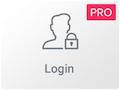 Icono del Widget de Login de Elementor Pro