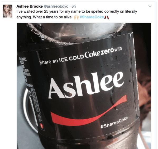 hashtag shareacoke