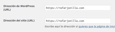 Pasar web WordPress a https, pantallazo
