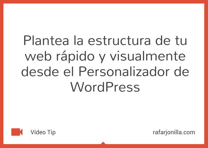 Ajustar tu plantilla con el personalizador de WordPress