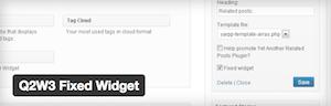 Plugin WordPress para dejar fijo un widget