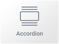 Icono de Widget de Acordeón con el Maquetador visual Elementor