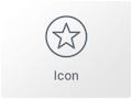 Icono del Widget de Icono en el maquetador visual Elementor
