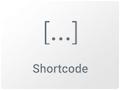 Imagen de Widget para añadir Shorcodes al contenido en Elementor