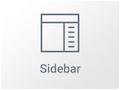 Icono de Widget de Barra Lateral en Elementor