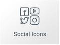 Imagen de Widget de iconos sociales con Elementor
