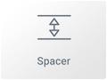 Icono Widget Espaciador en el editor visual Elementor