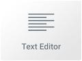 Icono del Wiget de editor de texto en Elementor