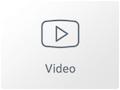 Icono del Widget de Vídeo en el maquetador visual Elementor