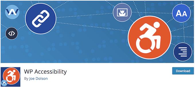 Pantallazo del plugin wp accesability para mejorar la accesibilidad web